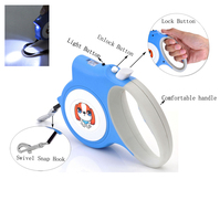 Retractable Dog Leash Pet Leash With Nylon Rope One Button Break And Lock16 Feet For Small