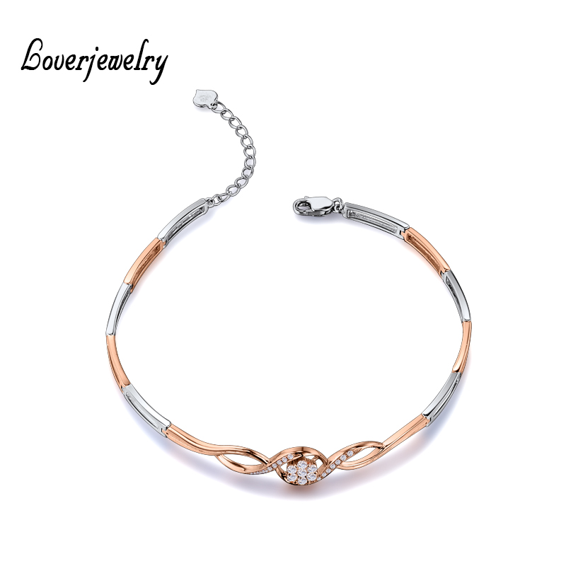 Us 735 0 New Solid 18kt Two Tone Gold Bracelet Bangle Natural Diamond Engagement For Women Na0031a In Bracelets Bangles From Jewelry