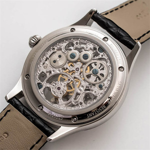 Image 5 - Voller Skelett Mechanische Uhren Männer der ST8000K Tourbillon bewegung Männer Armbanduhr Krokodil Lederband saphir Uhr