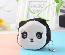 140PCS / LOT Kawaii Plush Coin Bag Cartoon Purse Zipper Animal Square Wallet Women Pouch Money Wholesale