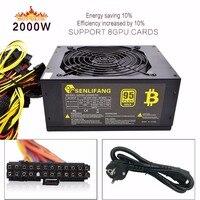 2pcs Asic Bitcoin Gold Power 2000W PLUS BTC Power Supply ATX Mining Machine Supports 8 GPU