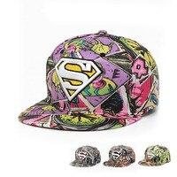 New Fashion Superman Baseball Cap Hats For Men Women Snap Back Snapback Caps Hat Cool Adjustable