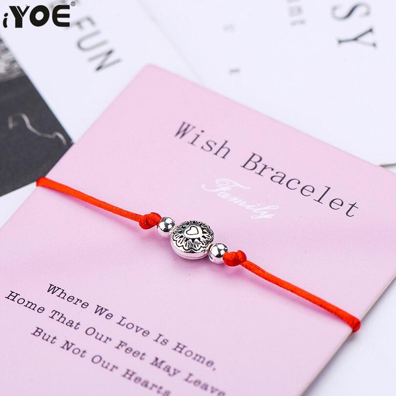 IYOE круглые браслеты с сердечками для женщин и детей, подарок для мамы, папы и детей