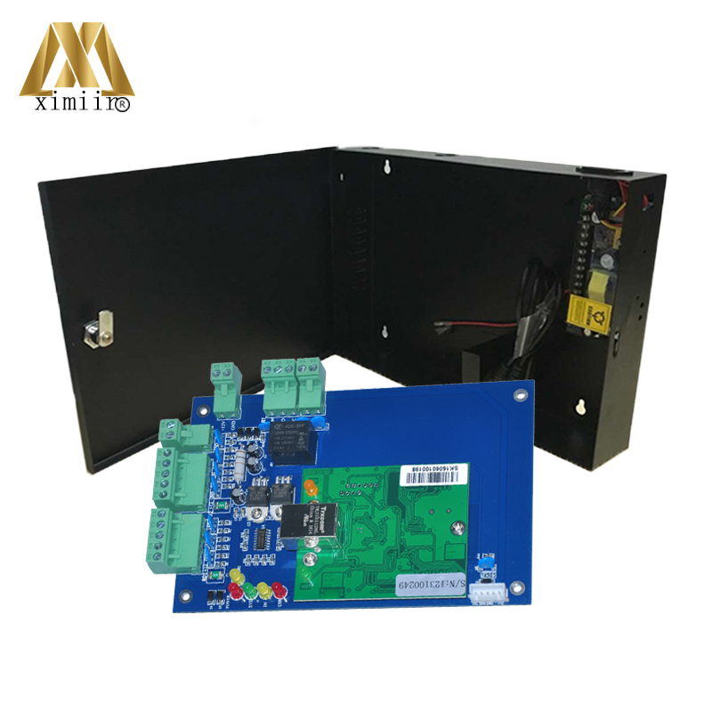 L01 One Door Access Control Panel Wiegand Control Board TCP/IP Access Control System With Power Supply Box With Battery Function