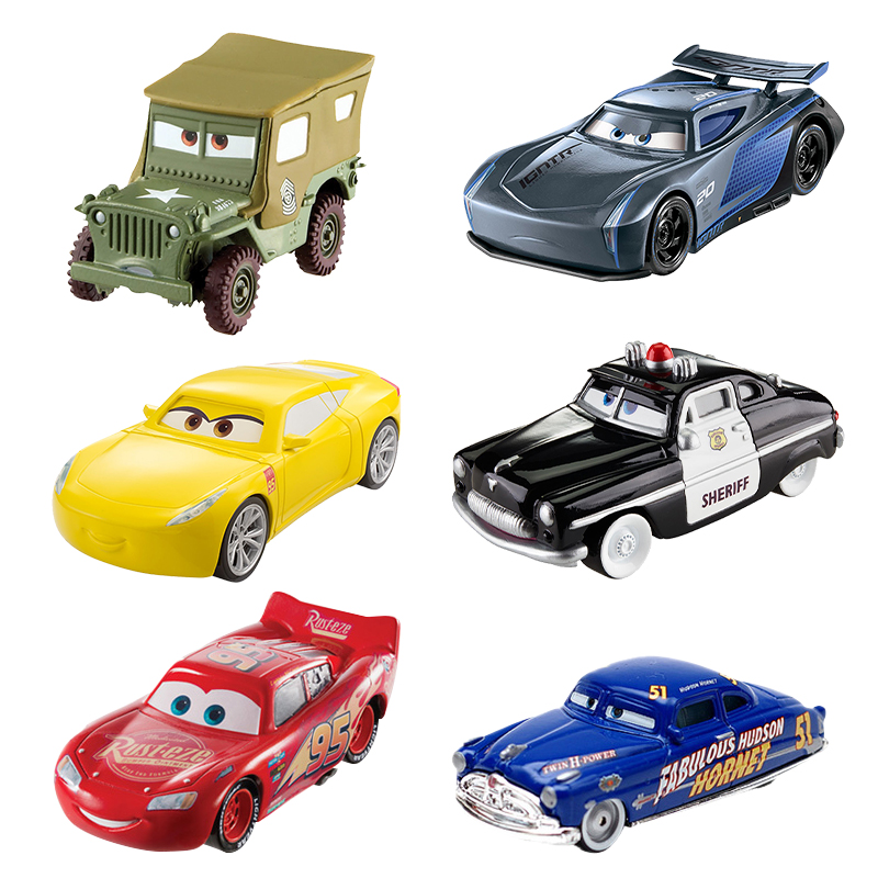 Disney children Cars 3 hotwheels car pixar cars kids toys Car model rayo mcqueen 7.5*2.5*3cm jackson storm 1:55 coches juguete