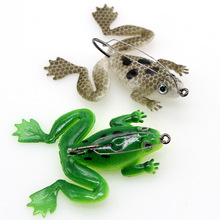 Мягкая рыболовная приманка в виде лягушки с крючком, 6 см