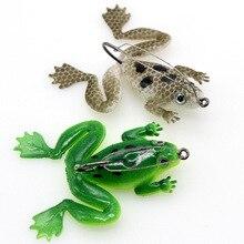 Thunderกบ5G 6ซม.แขวนด้านล่างHook Soft Frog Snakehead Fishing Lureเหยื่อWobblersซิลิโคนตกปลา