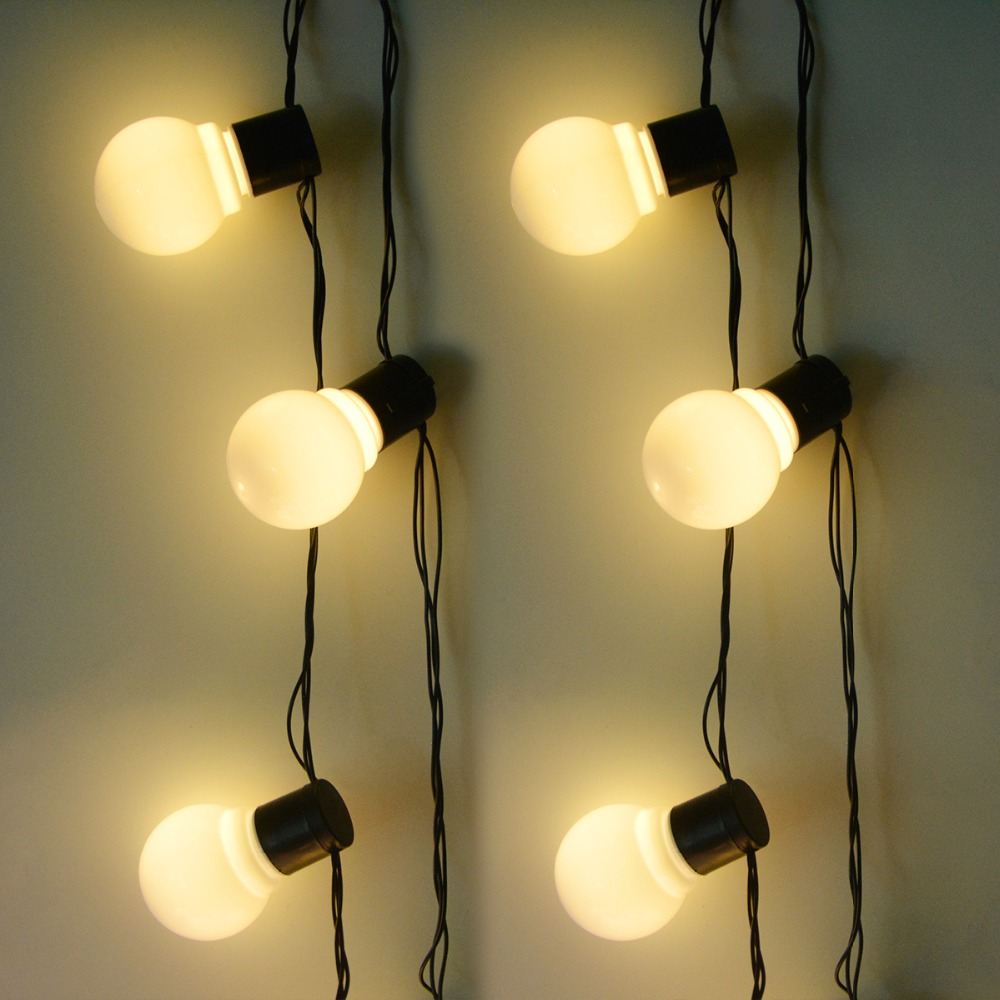 6M String Lights With White LED Bulbs Backyard Patio Lights Vintage Design Bulbs Garland Wedding Party : white patio lights - thejasonspencertrust.org