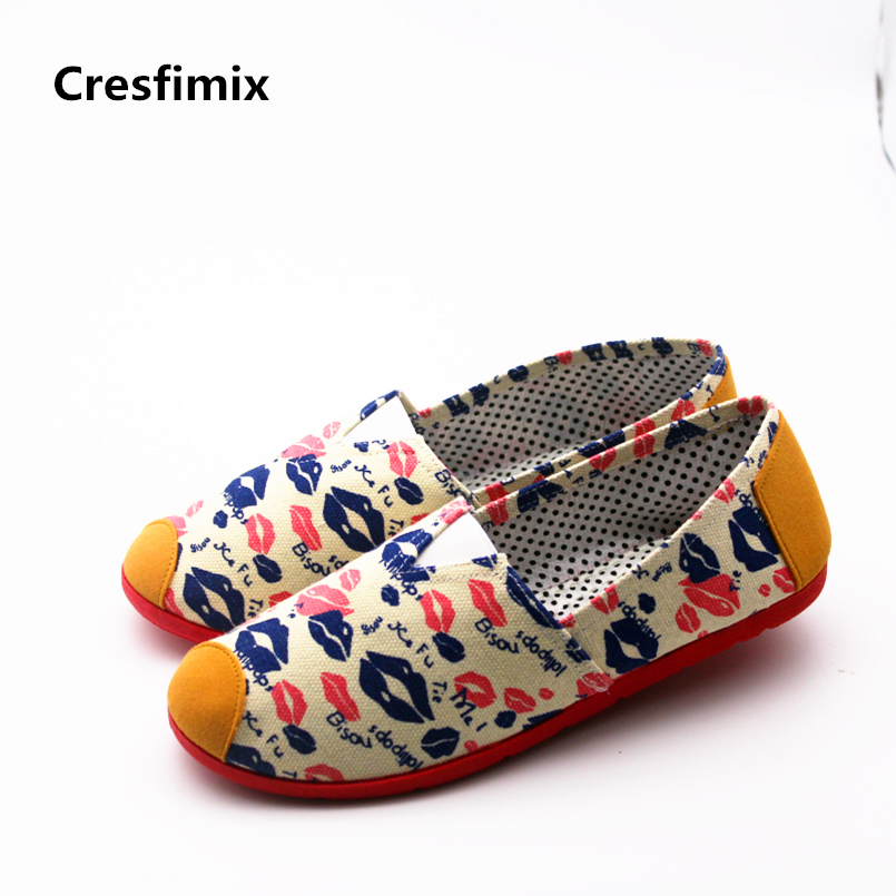 Cresfimix sapatos femininas women fashion new stylish dance flat shoes lady comfortable canvas street shoes cool shoes a809 женские блузки и рубашки cool fashion 2015 roupas blusas femininas tcb0024