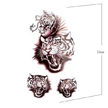 Original High Simulation Dragon Tiger Tattoo Eagle Totem Tide Fake