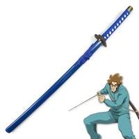 Wooden Sword Bleach Aikawa Robu Japanese Katana Cosplay Wooden Sword Knife Blade Weapon Cosplay Props Decorative High Quality