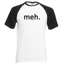 New Arrival Meh. Internet Geek Nerd loose men t shirt 2017 summer 100% cotton raglan men t-shirt for adult Camiseta Masculino
