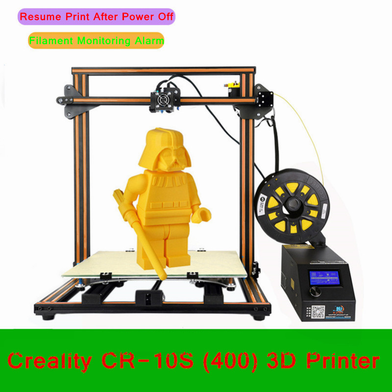 DIY Desktop Creality 3D Printer 400*400*400mm Large Printing Size Multi-type Filament With Heated Bed LCD Display Printer new arrival cr 10 diy 3d printer kit 300 300 400mm printing size 1 75mm 0 4mm nozzle abs pla filament with heated bed