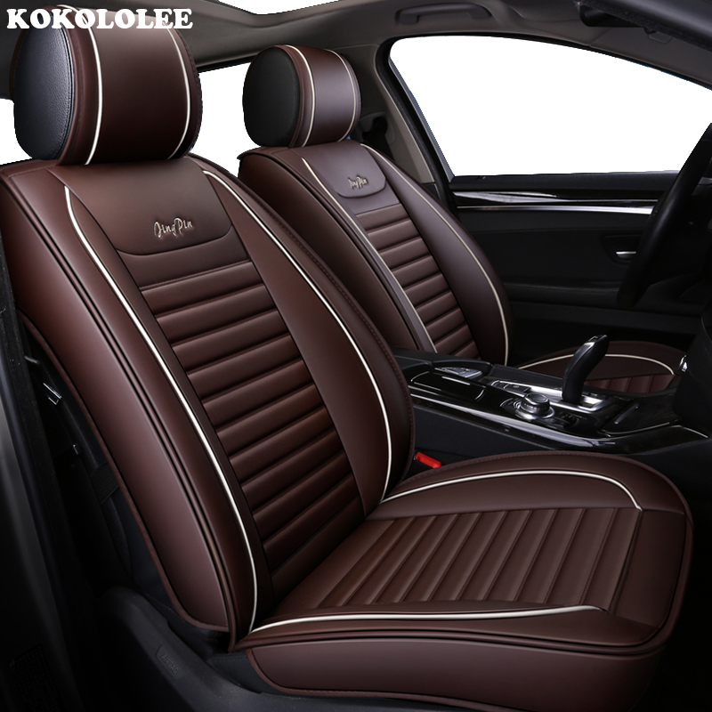 KOKOLOLEE Special Leather auto car seat covers For Audi A6L Q3 Q5 Q7 S4 A5 A1 A2 A3 A4 B6 b8 B7 A6 c5 c6 A7 A8 car accessories