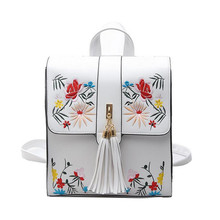 KÜHLE WANDERER Neue Mode PU Stickerei Rucksack Schultaschen Für Jugendliche Casual Trave Rucksack Frauen Mochila Sac A Dos Bolsas