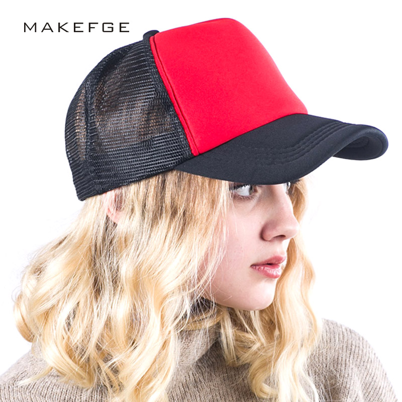 high quality Summer Male And Female Trucker Hats Fitted Casual Hip-hop Street Mesh Hat Casquette Cap Unisex Baseball Caps new 2017 fashion unisex cap bones baseball cap snapbacks hat simple hip hop cap casual sports female hats wholesale