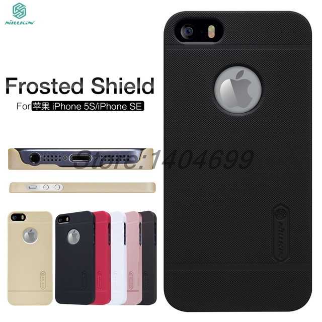 the best attitude a1dad 95a94 US $7.01 22% OFF|sFor iphone SE Case Nillkin Frosted Shield Hard Armor Back  Cover Matte Case For iphone 5S 5-in Half-wrapped Cases from Cellphones & ...