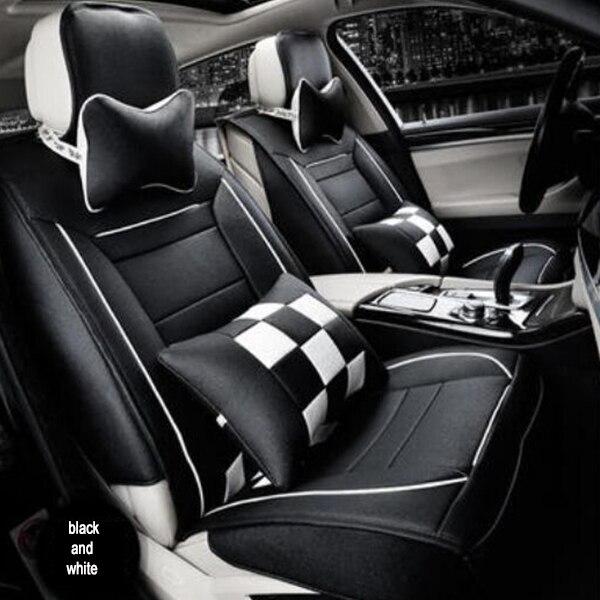 2015 Hot Sale Universal Leather Car Seat Cover Colour Black Orange Cream Coloured