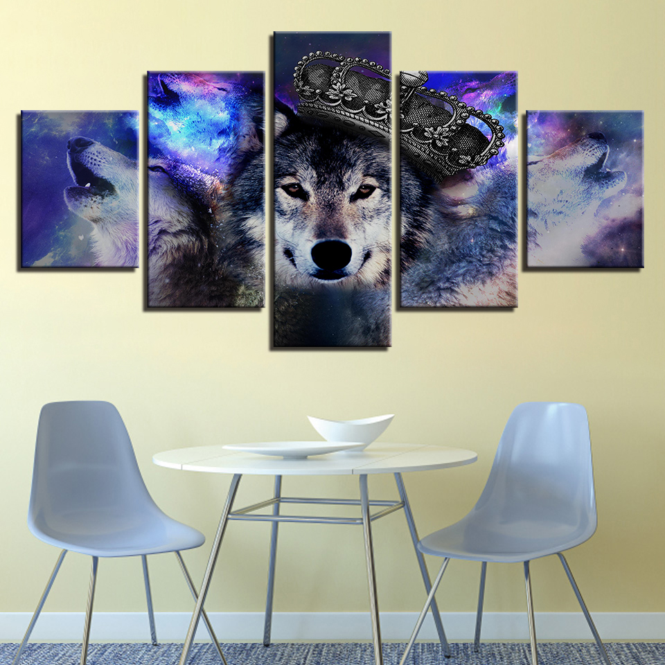 5 People High Definition Wolf Photo Posters Decorate The