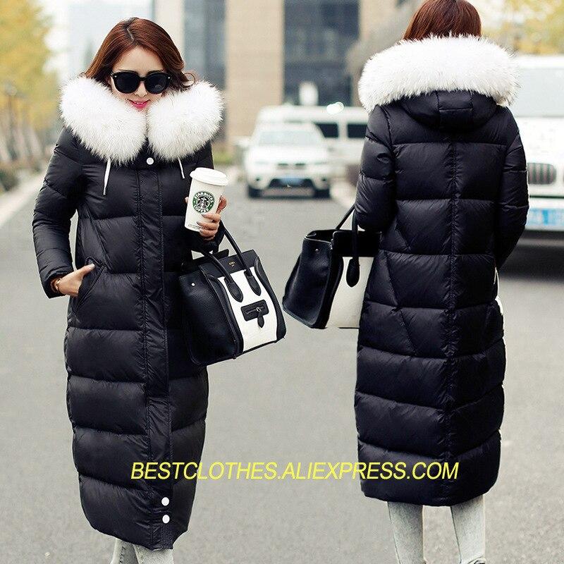Señora Piel De Gruesa gray Largas Invierno Las Capucha Hacia Con Lj191 Nieve  Cálido Elegante Black Abrigos Chaqueta Parkas Mujeres Delgada ... 33d2c6163a60