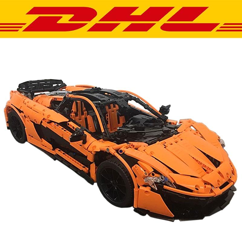 Lepin 20087 Technic MOC-10915 McLaren P1 Hypercar 1:8 Racing Car Set Compatible Legoing Model Building Kit Blocks Bricks Boy Toy mz mclaren p1 27051