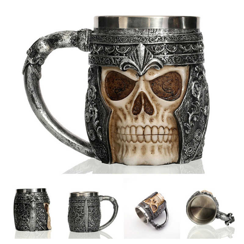 Image 3 - 2019 New Style 3D skull shape Cup Game of thrones Coffee Beer Cup Mug 13oz Best Gift For Boyfriend-in Mugs from Home & Garden