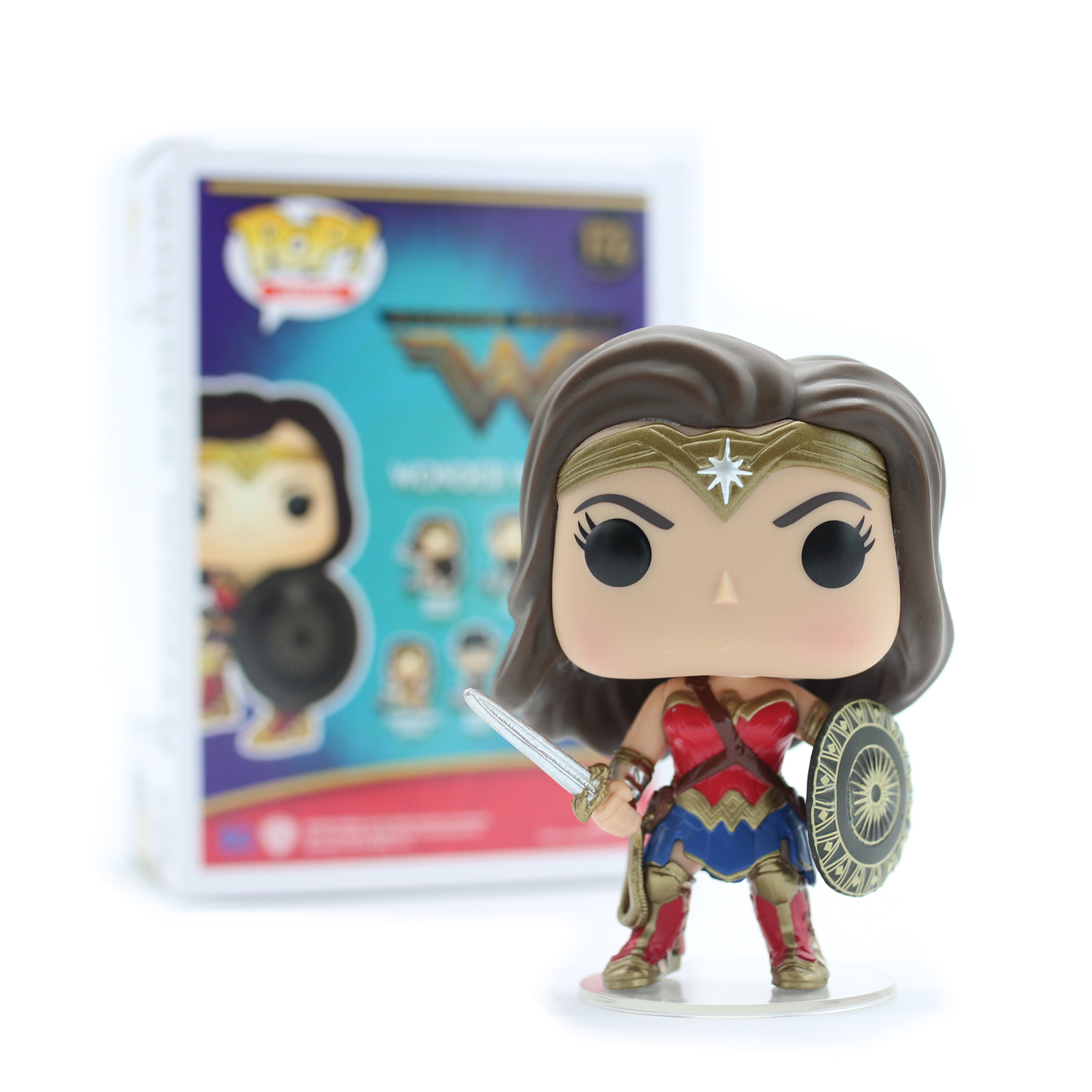 Chanycore Funko pop DC Wonder Woman 172# Steve Trevor Anime Vinyl PVC Action figure Model Toy  funko pop wonder woman pvc action figure collectible model toy 10cm wonderwoman