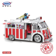 Xingbao 08004 1000Pcs Genuine Technic Series The Ice Cream Car Set Building Blocks Bricks Children Educational Toys Model Gifts lepin 05045 star battle genuine series the b starfighter wing educational building blocks bricks toys legoing 10227 gifts model
