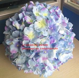 "8""(20cm)Wedding pink flower Balls Hydrangeas Silk Rose Flowers Ball Centerpieces Decoration Hanging Flower Balls"