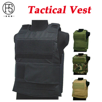 Military Molle Plate Carrier Hunting Vests Army Protection Vests Outdoor Sport Paintball Airsoft Gear Tactical Vest 4 Colors