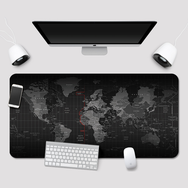 Старая карта мира большой игровой Мышь Pad Lockedge Мышь коврик клавиатура коврик стол коврик настольный коврик для мыши для игр для ноутбука Тетрадь Lol