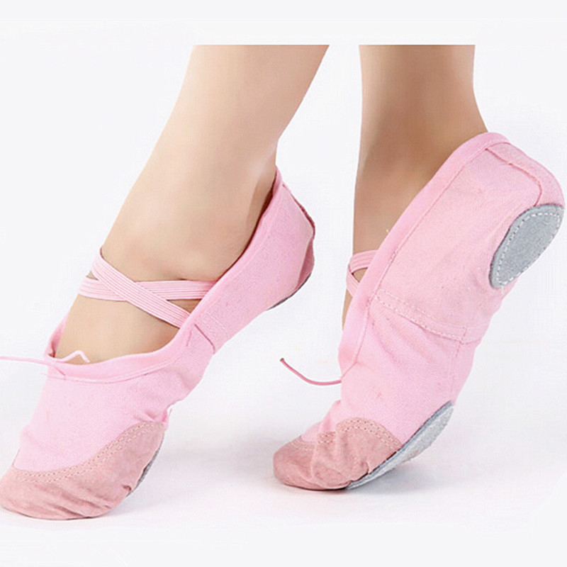 Professional Ballet Shoes Child Girls Cotton Canvas Soft Ballet Dance Practice Shoe Kids Gymnastics Yoga Dancing Shoes