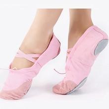 Professional Ballet Shoes Child Girls Cotton Canvas Soft Ballet Dance Practice