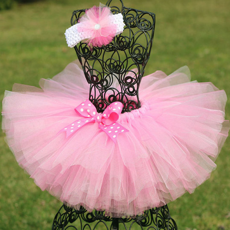 Handmade Fluffy 3 Layer Baby Girl Tutu Skirt Kids Tulle For Birthday Party Casual Ball Gown Children Dance Skirts In From Mother On