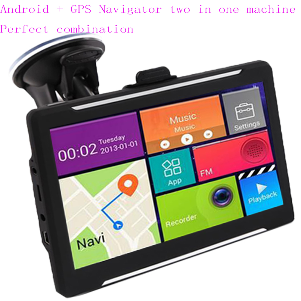7 Inch Car GPS Navigator Android System Two In One Navigation Package FM Bluetooth AV-IN Support Reversing Image 512 / 16GB Late