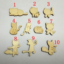 100pcs/bag Wholesale high quality ten kinds of mini the cat die cutting Angle wood/hotel wedding decoration optio c1