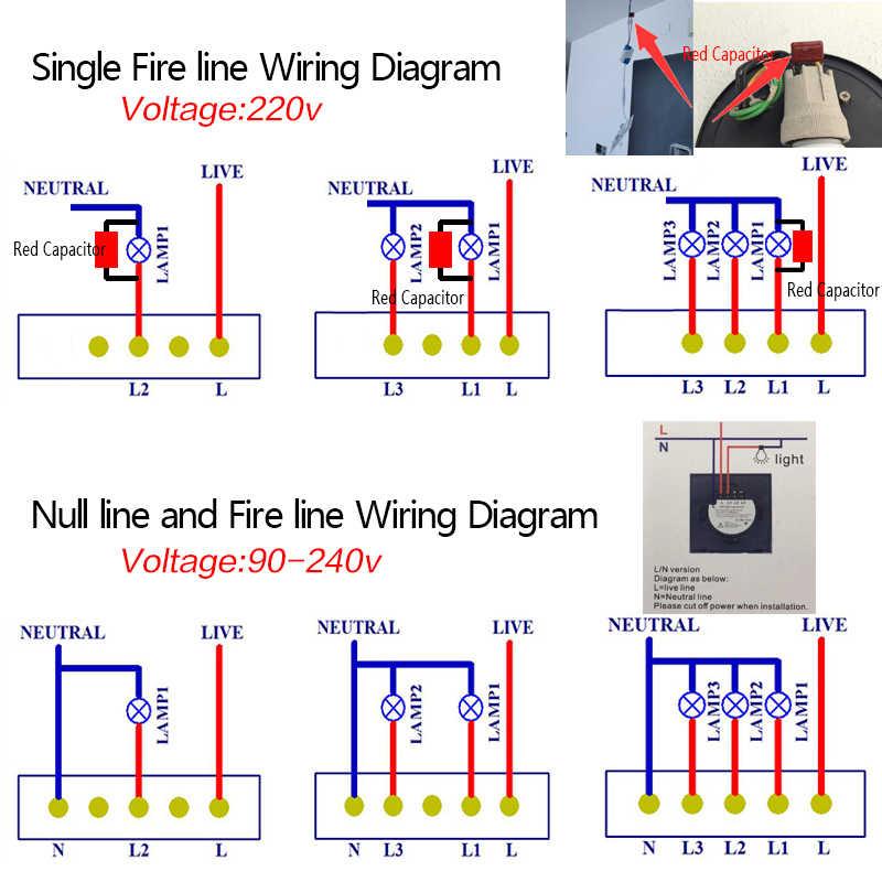 Hogar Inteligente Tuya/vida inteligente/ewelink 2 1 manera WiFi pared interruptor de luz táctil para Google alexa de Amazon, Control de voz