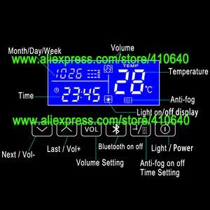 Image 5 - K3015CBF 터치 스위치 패널 시간 날짜 온도 디스플레이 안티 안개 화장실 욕실 캐비닛 LED 라이트 미러 재생
