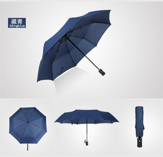 e217f14632fb US $6.16 30% OFF|Fully Automatic Folding Umbrella Rain Women Men Auto  Luxury Big Windproof Travel Umbrellas For Men Black guarda chuva FGU01-in  ...