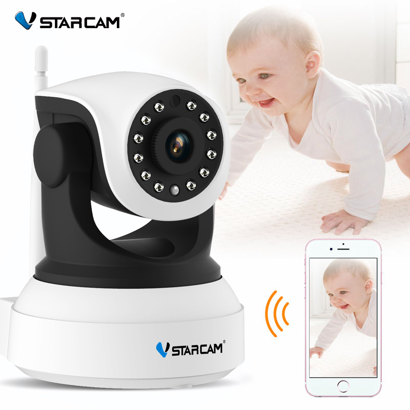 Vstarcam C7824WIP Baby Monitor wifi 2 way audio smart camera with motion detection Security IP Camera Wireless howell wireless security hd 960p wifi ip camera p2p pan tilt motion detection video baby monitor 2 way audio and ir night vision