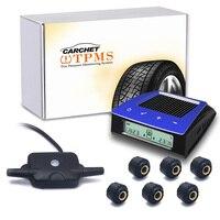 Carchet TPMS шин Давление Мониторы Системы Солнечный Мощность Беспроводной ЖК дисплей шин Давление Мониторы Системы автомобиль TPMS + 6 внешних Сен