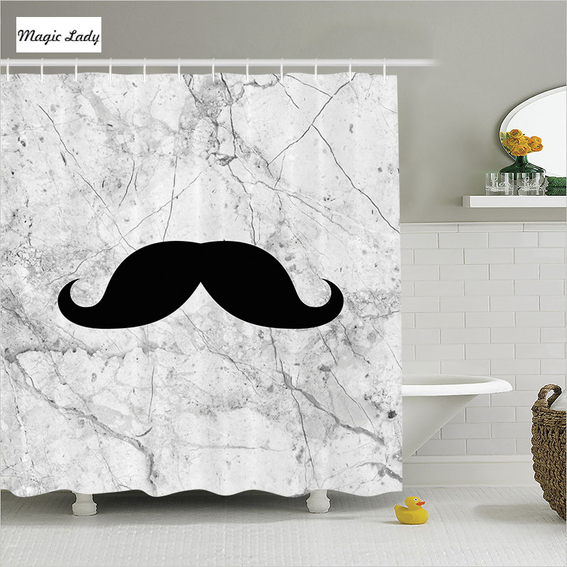 Home Decorators Collection Coupon Free Shipping: Shower Curtains Accessories Bathroom Symbol Mustache