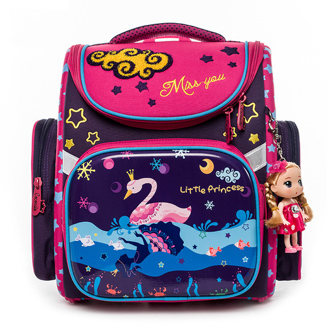 Cartoon children School Bag For Girls Swan Cat Pattern Backpack Children  Orthopedic Durable Backpacks Grade 1 … 5c4a96a0b359a