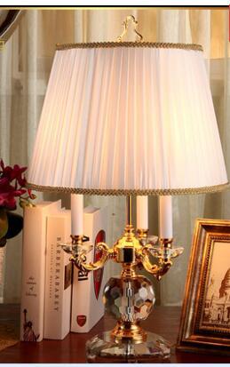 Кристалл Настольная лампа. Европейский творческий украшения гостиной спальня ночники.
