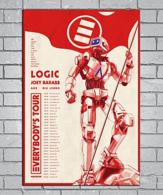 Superior Logic Joey Badass U0026 Big Lenbo Everybodyu0027s Tour Light Canvas Custom Poster  24x36 27x40 Inch Home