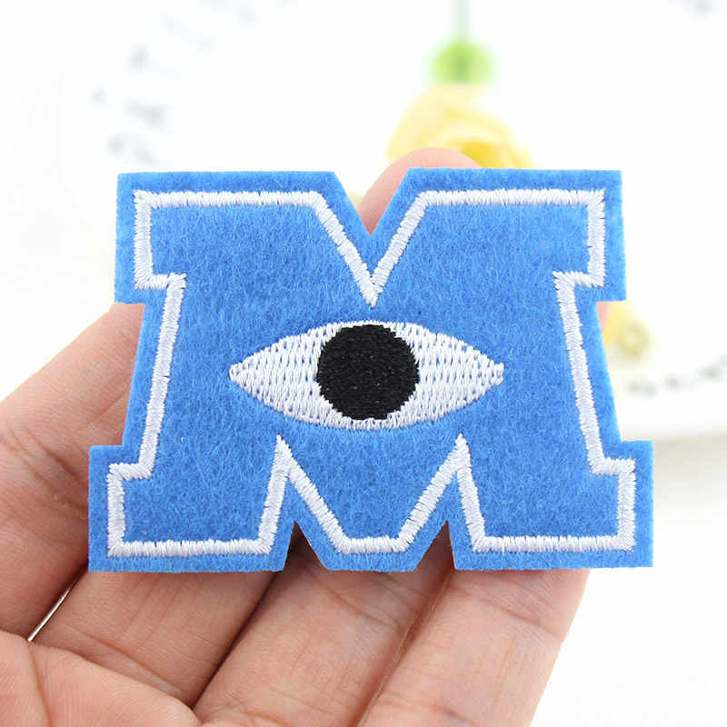Mike Wazowski Monsters Embroidered patch Iron on clothes Patches For clothing Badges Stickers Garment Appliques wholesale