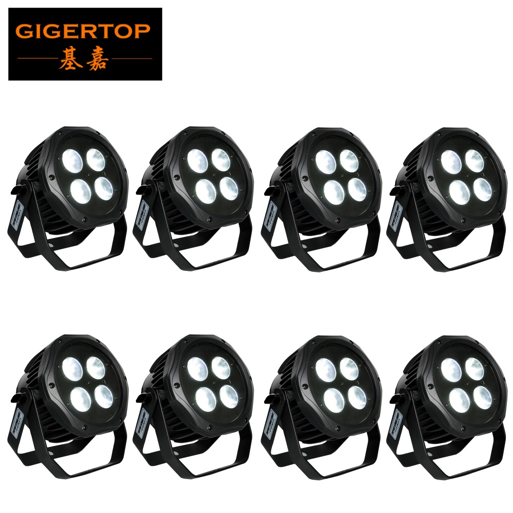 China Stage Lighting 8 Pack 4X18W RGBWY UV 6 IN 1 Flat Slim Battery LED Par Stage Lighting IP65 Waterproof Live Show DJ CE ROHS