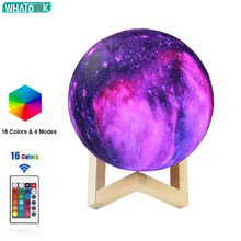 3D Moon Lamp LED Night Light Galaxy USB Star Ball Print Desk Luna Lights Home Decoration Birthday Creative Gift Dropshipping