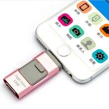 Lo nuevo i-flash iflash drive hd interfaz u-disco micro usb 3 en 1 para android/iphone 5/6/5s/6 plus ipad/ipod/pc/mac 8/16/32/64 gb