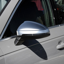 For Audi  A4 A5 B9 Allroad Quattro S4 S5 Side Wing Mirror Caps Fit Audi Mirror Covers Silver Matte Chrome carbon fiber replace rearview mirror cap covers shell for audi a4 b9 standard allroad 2017 with side assist 2pc white chrom